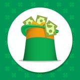 圣帕特里克爱尔兰人帽子 免版税图库摄影