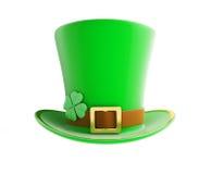 圣帕特里克的天绿色帽子 图库摄影
