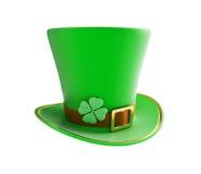 圣帕特里克的天绿色帽子 库存图片