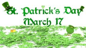 圣帕特里克节3月17日 免版税库存图片