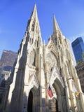 圣帕特里克& x27外部; s大教堂在纽约 免版税图库摄影