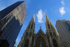 圣帕特里克` s大教堂在纽约 免版税库存照片