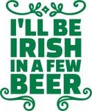圣帕特里克` s天印刷设计- I ` ll是爱尔兰语在一些啤酒 皇族释放例证