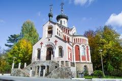 圣弗拉基米尔- Marià ¡俄罗斯正教会nské Là ¡ znÄ› 免版税库存照片