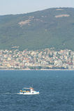 圣弗拉斯海岸镇  黑色保加利亚覆盖空白海运的通知 图库摄影