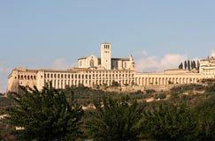 圣弗朗切斯科在阿西西,翁布里亚,意大利 库存图片