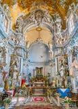 圣弗朗切斯科教会在Mazara del Vallo,特拉帕尼,西西里岛,南意大利省的镇  库存图片