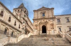圣弗朗切斯科教会,诺托,西西里岛,意大利 图库摄影