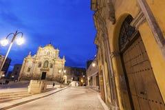 圣弗朗切斯科d `阿西西教会在马泰拉 库存图片