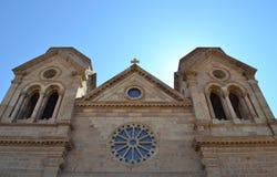 圣弗朗西斯大教堂在圣菲,新墨西哥 免版税库存照片