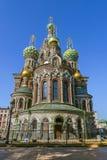 圣彼得堡。复活的教会 图库摄影