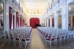 圣彼得堡俄罗斯- 2017年4月15日:圣彼德堡剧院和音乐状态博物馆  空白大厅 免版税图库摄影