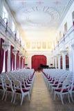 圣彼得堡俄罗斯- 2017年4月15日:圣彼德堡剧院和音乐状态博物馆  空白大厅 库存照片