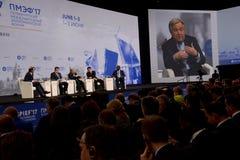 圣彼得堡国际经济论坛的开幕式 库存图片