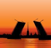 圣彼得堡地标,俄罗斯。旅行地标例证 库存例证