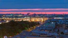 圣彼得堡夜视图有宫殿正方形的从以撒大教堂timelapse,俄罗斯 影视素材