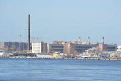 圣彼得堡工业郊外 免版税图库摄影