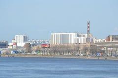 圣彼得堡工业郊外 图库摄影
