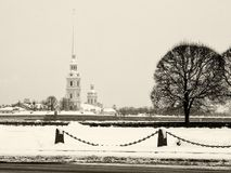 圣彼得堡彼得保罗堡垒 库存照片