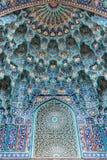 圣彼得堡清真寺,门户的马赛克 库存图片