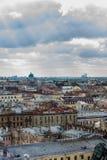 圣彼得堡空中全景视图  库存图片