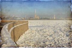 圣彼得堡,俄罗斯葡萄酒照片  免版税图库摄影
