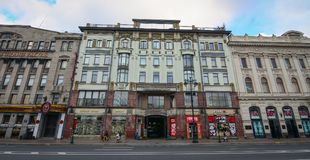 圣彼得堡,俄罗斯都市风景  免版税库存照片