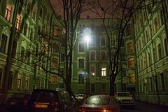 圣彼得堡,俄罗斯- 2014年11月03日:印象深刻的房子Kolobov名义上过去所有者在彼得格勒区 免版税图库摄影