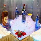 圣彼得堡,俄罗斯- 2017年12月16日:各种各样的品牌酒精  免版税库存图片