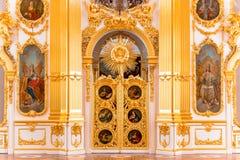 圣彼得堡,俄罗斯- 2017年5月12日:状态偏僻寺院冬宫的内部在圣彼德堡,偏僻寺院是 免版税图库摄影