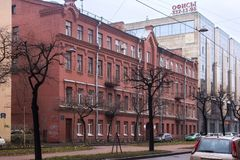 圣彼得堡,俄罗斯- 2014年11月03日:老历史大厦在圣彼得堡的中心 图库摄影