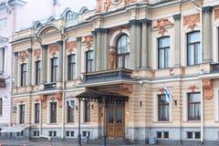 圣彼得堡,俄罗斯- 2014年11月04日:老历史大厦在圣彼得堡的中心 免版税图库摄影