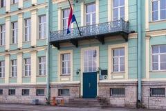 圣彼得堡,俄罗斯- 2014年11月04日:荷兰的总领事的住所在圣彼德堡 图库摄影