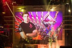 圣彼得堡,俄罗斯- 2017年10月28日:震央柜台罢工:全球性进攻网络体育比赛 主要地点` s 免版税图库摄影