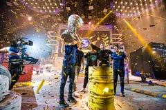 圣彼得堡,俄罗斯- 2017年10月29日:震央柜台罢工:全球性进攻网络体育比赛 赢利地区 免版税图库摄影