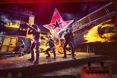 圣彼得堡,俄罗斯- 2017年10月29日:震央柜台罢工:全球性进攻网络体育比赛 队Astralis 图库摄影
