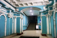 圣彼得堡,俄罗斯- 2014年11月03日:Chubakovs老有益的房子的典雅的入口  库存照片
