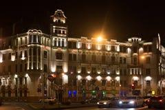 圣彼得堡,俄罗斯- 2014年11月03日:K有益的现代房子  Keldal 图库摄影