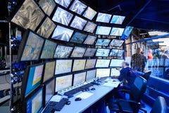 圣彼得堡,俄罗斯- 2017年5月13日:吸引力盛大俄国布局的控制室 最大的布局  免版税库存图片