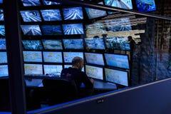 圣彼得堡,俄罗斯- 2017年5月13日:吸引力盛大俄国布局的控制室 最大的布局  免版税库存照片