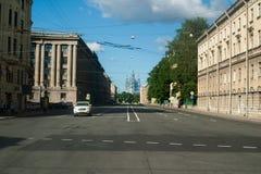 圣彼得堡,俄罗斯- 2017年7月02日:斯莫尔尼宫大教堂 免版税库存照片