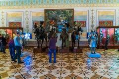 圣彼得堡,俄罗斯- 2016年12月25日:游人参观 库存图片
