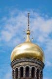 圣彼得堡,俄罗斯- MAI 10日2014年:一部分的教会Spilled血液的救主 免版税图库摄影
