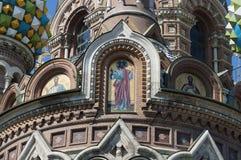 圣彼得堡,复活的大教堂,救主的教会血液的 图库摄影