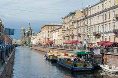 圣彼得堡水运河 免版税库存照片