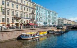 圣彼得堡水运河 库存照片