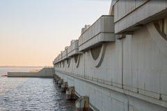 圣彼得堡洪水预防设施复合体 库存照片