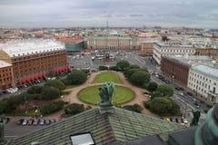 圣彼得堡Panorana从圣以撒` s大教堂的 免版税库存图片