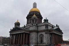圣彼得堡St以撒` s大教堂 库存图片