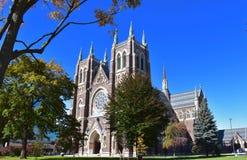 圣彼得大教堂大教堂在伦敦,安大略加拿大 库存照片